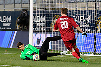 Chester, PA - Friday December 08, 2017: Trey Muse The Indiana Hoosiers defeated the North Carolina Tar Heels 1-0 during an NCAA Men's College Cup semifinal soccer match at Talen Energy Stadium.