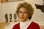 Kiri Te Kanawa was born Claire Mary Teresa Rawstron in the small New Zealand seaside town of Gisborne. Maori opera singer. Photographed in her home Surrey. 1980s UK