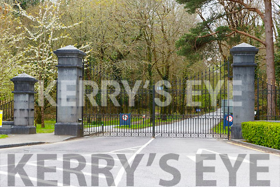 The normally packed  Muckross House were locked on Good Friday due to the National lock down
