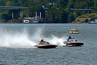 "Bob Hampton, GP-182, Xanadu, (1982 Grand Prix class pickle-fork Lauterbach hydroplane), H-202 ""Heavy Duty"" (1964 Lauterbach 7 Litre/Grand Prix hydroplane)"