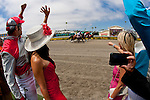 Horses break from the gate in the first race on opening day at Del Mar Thoroughbred Club in Del Mar, CA.  July 20, 2011