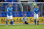 St Johnstone v Aberdeen...06.02.16   SPFL   McDiarmid Park, Perth<br /> Alan Mannus on his knees after conceding Peter Pawlett's free kick<br /> Picture by Graeme Hart.<br /> Copyright Perthshire Picture Agency<br /> Tel: 01738 623350  Mobile: 07990 594431