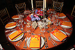 One of the colorful tables at the SPA's Forever Paris Gala at the Wortham Theater Saturday March 29, 2014.(Dave Rossman photo)