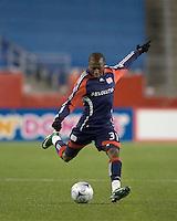 New England Revolution midfielder Sainey Nyassi (31). The New England Revolution defeated FC Dallas, 2-1, at Gillette Stadium on April 4, 2009. Photo by Andrew Katsampes /isiphotos.com