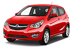 2016 Opel Karl Cosmo 5 Door Hatchback Angular Front stock photos of front three quarter view