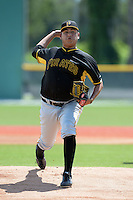Pittsburgh Pirates pitcher Luis Heredia (58) during an Instructional League intersquad scrimmage on September 29, 2014 at the Pirate City in Bradenton, Florida.  (Mike Janes/Four Seam Images)