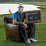 """Brett Rumford was asked by Ballantine's at the BMW Masters to describe how he stays true to himself; his answer is shown. Ballantine's, who recently announced their new global marketing campaign, """"Stay True, Leave An Impression"""", is a sponsor at the BMW Masters, which takes place from the 24-27 October at Lake Malaren Golf Club in Shanghai.    Photo by Andy Jones / The Power of Sport Images for Ballantines."""