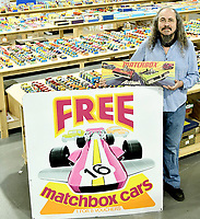 BNPS.co.uk (01202) 558833.<br /> Pic: VectisAuctions/BNPS<br /> <br /> Pictured: In the money - Graham Hamilton, 54<br /> <br /> A man who spent 30 years building an epic collection of Matchbox toy cars is celebrating today after it sold for £480,000.<br /> <br /> Graham Hamilton, 55, fell in love with the miniature toys as a child and would put them back in their boxes after playing with them.<br /> <br /> He began collecting seriously in his early 20s after retrieving a box of his treasured toys from his parents' loft.<br /> <br /> Graham spent over £100,000 acquiring 1,800 Matchbox cars, which was virtually every one made at Matchbox's old Lesney factory in London between 1962 and 1982.