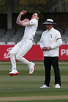 Matt Salisbury in bowling action for Durham during Essex CCC vs Durham CCC, LV Insurance County Championship Group 1 Cricket at The Cloudfm County Ground on 15th April 2021