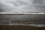 Clouds gather off the beach on a stormy winter day in Da Nang, Vietnam. Dec. 23, 2012.