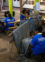 Yogyakarta, Java, Indonesia.  Batik Workshop.  Women at Work.
