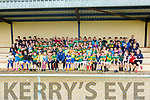 Kerry star Jason Foley got a huge welcome from the footballers at the Keel GAA football camp on Friday