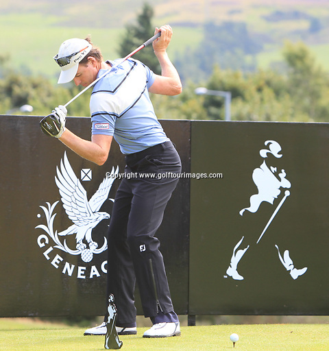 Brett Rumford (AUS)  during the ProAm ahead of the 2013 Johnnie Walker Championship being played over the PGA Centenary Course, Gleneagles, Perthshire from 22nd to 25th August 2013: Picture Stuart Adams www.golftourimages.com: 21st August 2013