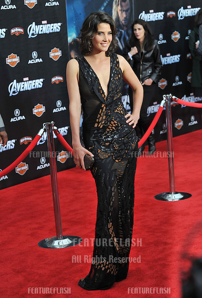 """Cobie Smulders at the world premiere of her new movie """"Marvel's The Avengers"""" at the El Capitan Theatre, Hollywood..April 11, 2012  Los Angeles, CA.Picture: Paul Smith / Featureflash"""