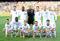 USA Starting Eleven. USA defeated Algeria 1-0 in stoppage time in the 2010 FIFA World Cup at Loftus Versfeld Stadium in Pretoria, Sourth Africa, on June 23th, 2010.