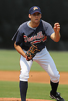 July 15, 2009: LHP Jeffrey Lorick (17) of the Danville Braves, rookie Appalachian League affiliate of the Atlanta Braves, before a game at Dan Daniel Memorial Park in Danville, Va. Photo by:  Tom Priddy/Four Seam Images