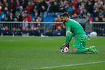 Atletico de Madrid´s Moya gets injured during the UEFA Champions League round of 16 second leg match between Atletico de Madrid and Bayer 04 Leverkusen at Vicente Calderon stadium in Madrid, Spain. March 17, 2015. (ALTERPHOTOS/Victor Blanco)