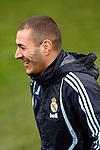 Madrid (25/02/10).-Entrenamiento del Real Madrid..Karim Benzema...© Alex Cid-Fuentes/ ALFAQUI..Madrid (25/02/10).-Training session of Real Madrid c.f..Karim Benzema...© Alex Cid-Fuentes/ ALFAQUI.