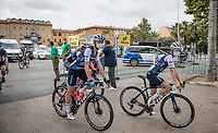 Lizzie Deignan (GBR/Trek-Segafredo) pre-race<br /> <br /> 7th La Course by Tour de France 2020 <br /> 1 day race from Nice to Nice (96km)<br /> <br /> ©kramon