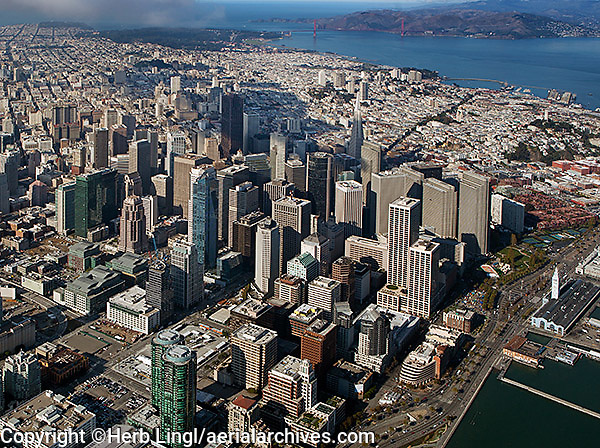 aerial photograph Transbay San Francisco financial district
