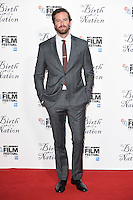 """Armie Hammer<br /> at the London Film Festival 2016 premiere of """"The Birth of a Nation"""" at the Odeon Leicester Square, London.<br /> <br /> <br /> ©Ash Knotek  D3173  11/10/2016"""