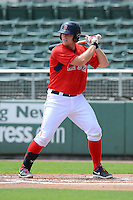GCL Red Sox first baseman Nathan Minnich (34) during a game against the GCL Twins on July 19, 2013 at JetBlue Park at Fenway South in Fort Myers, Florida.  GCL Red Sox defeated the GCL Twins 4-2.  (Mike Janes/Four Seam Images)