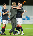 21/09/2010   Copyright  Pic : James Stewart.sct_jsp026_falkirk_v_hearts  .:: FALKIRK MANAGER STEVEN PRESSLEY CELEBRATES WITH CARL FINNIGAN AT THE END :: .James Stewart Photography 19 Carronlea Drive, Falkirk. FK2 8DN      Vat Reg No. 607 6932 25.Telephone      : +44 (0)1324 570291 .Mobile              : +44 (0)7721 416997.E-mail  :  jim@jspa.co.uk.If you require further information then contact Jim Stewart on any of the numbers above.........