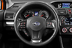 Steering wheel view of a 2012 Subaru XV Executive SUV