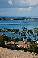 Europe/France/Aquitaine/33/Gironde/Bassin d'Arcachon/ La Teste-de-Buch: Dune du Pilat au fond le Cap Ferret