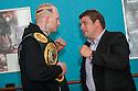 Gary Cornish with his next opponent, current English Heavyweight title holder, John McDermott.
