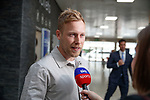 14.05.2018 Scott Arfield arrives at Glasgow Airport to complete his move to Rangers