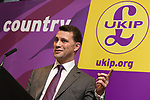 © Joel Goodman - 07973 332324 . 24/04/2014 . Manchester , UK . UKIP MEP Candidate , STEVEN WOOLFE , addresses a UKIP conference rally at the Free Trade Hall in Manchester . Photo credit : Joel Goodman