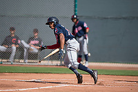 Cleveland Indians center fielder Quentin Holmes (70) during a Minor League Spring Training game against the San Francisco Giants at the San Francisco Giants Training Complex on March 14, 2018 in Scottsdale, Arizona. (Zachary Lucy/Four Seam Images)