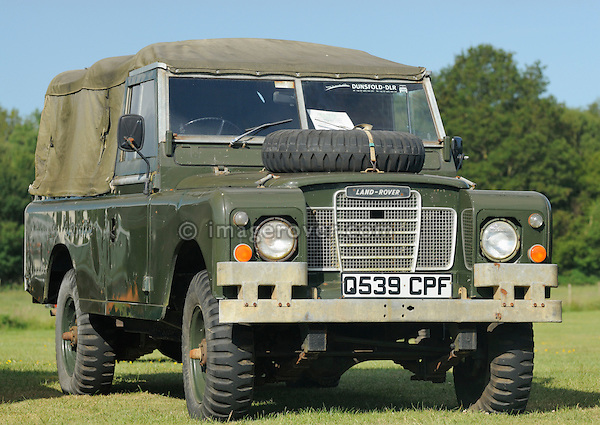 Electric powered Series 3 Land Rover. Dunsfold Collection Open Day 2009. NO RELEASES AVAILABLE.
