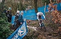 European CX Champion VAN DER POEL Mathieu (NED/Corendon-Circus) going for yet another win<br /> <br /> Brussels Universities Cyclocross (BEL) 2019<br /> Elite Men's Race<br /> DVV Trofee<br /> ©kramon