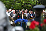 From left, front, Assembly Speaker John Hambrick, R-Las Vegas, Clark County Sheriff Joe Lombardo, Rep. Mark Amodei, R-Nev., and Gov. Brian Sandoval participate in the annual Nevada Law Enforcement Officers Memorial Ceremony on the Capitol Mall in Carson City, Nev., on Thursday, May 7, 2015. The names of Las Vegas Metropolitan Police Officers Alyn Beck and Igor Soldo were added to the memorial after they were killed in the line of duty last June.    <br /> Photo by Cathleen Allison