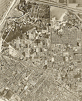 historical aerial photograph Costa Mesa, California, 1963