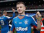 Andy Halliday with his winners medal