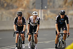 Asbjørn Kragh Andersen (DED) and Cees Bol (NED) Team DSM and Lasse Norman Hansen (DEN) Team Qhubeka Assos  climb the final 4km of Jais Mountain during Stage 5 of the 2021 UAE Tour running 170km from Fujairah to Jebel Jais, Ras Al Khaimah, UAE. 25th February 2021.  <br /> Picture: Eoin Clarke   Cyclefile<br /> <br /> All photos usage must carry mandatory copyright credit (© Cyclefile   Eoin Clarke)