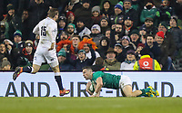 Saturday 2nd February 2019 | Ireland vs England<br /> <br /> John Cooney scores during the opening Guinness 6 Nations clash between Ireland and England at the Aviva Stadium, Lansdowne Road, Dublin, Ireland.  Photo by John Dickson / DICKSONDIGITAL