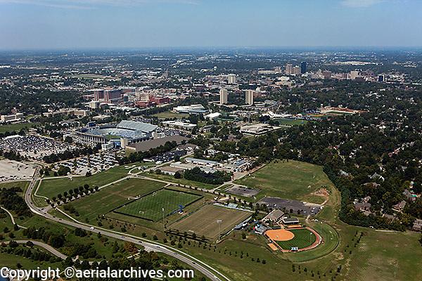aerial photograph of University of Kentucky athletic facilities, Lexington, Kentucky