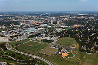 aerial photograph of University of Kentucky athletic facilities, Lexington, Kentucky