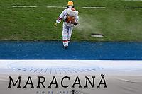 Rio de Janeiro (RJ), 12/07/2020 - Fluminense-Flamengo - Higienização e desinfecção do banco de reservas. Partida entre Fluminense e Flamengo, válida pela final do Campeonato Carioca 2020, no Estádio Jornalista Mário Filho (Maracanã), na zona norte do Rio de Janeiro, neste domingo (12).