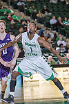 North Texas Mean Green guard/forward Maurice Aniefiok (1) in action during the game between the Stephen F. Austin Lumberjacks and the North Texas Mean Green at the Super Pit arena in Denton, Texas. SFA defeats UNT 87 to 53.