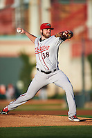 Richmond Flying Squirrels starting pitcher Sam Coonrod (38) during a game against the Erie SeaWolves on August 22, 2016 at Jerry Uht Park in Erie, Pennsylvania.  Erie defeated Richmond 4-2.  (Mike Janes/Four Seam Images)