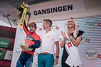 stage winner Sonny Colbrelli (ITA/Bahrain-Merida)<br /> <br /> Stage 3: Oberstammheim > Gansingen (182km)<br /> 82nd Tour de Suisse 2018 (2.UWT)