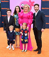 """11 June 2020 - Kelly Clarkson files for divorce from husband Brandon Blackstock. The """"Voice"""" coach and Blackstock, a music manager, have been married since October 2013 and have two children together, River Rose and Remington Alexander. Blackstock also has two children from a previous marriage. File photo: 27 April 2019 - Los Angeles, California - Seth Blackstock, Remington Alexander Blackstock, Savannah Blackstock, Kelly Clarkson, River Rose Blackstock, Brandon Blackstock. """"UGLYDOLLS"""" World Premiere held at Regal L.A. Live: A Barco Innovation Center. Photo Credit: Birdie Thompson/AdMedia"""