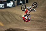 Adam Jones competes in the Moto X Freestyle elimination round during X-Games 12 in Los Angeles, California on August 5, 2006.