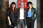 Spanish film director Isabel Coixet and French actress Juliette Binoche with the director of the festival Javier Angulo during the 60th Seminci. October 31,2015.(ALTERPHOTOS/Acero)