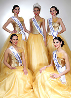 LIVIA HOARAU (MISS ELEGANCE AUVERGNE 2016) ELUE MISS ELEGANCE FRANCE 2017 AVEC LES 4 DAUPHINES - ROBE : POLARIS CREATION